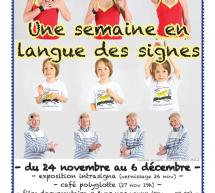Une semaine en langue des signes au Centre d'animation R. Goscinny (75) du 24 nov. au 6 déc.