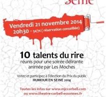 Tremplin Humour en Seine vendredi 22 novembre à Corbeil-Essonnes (91)