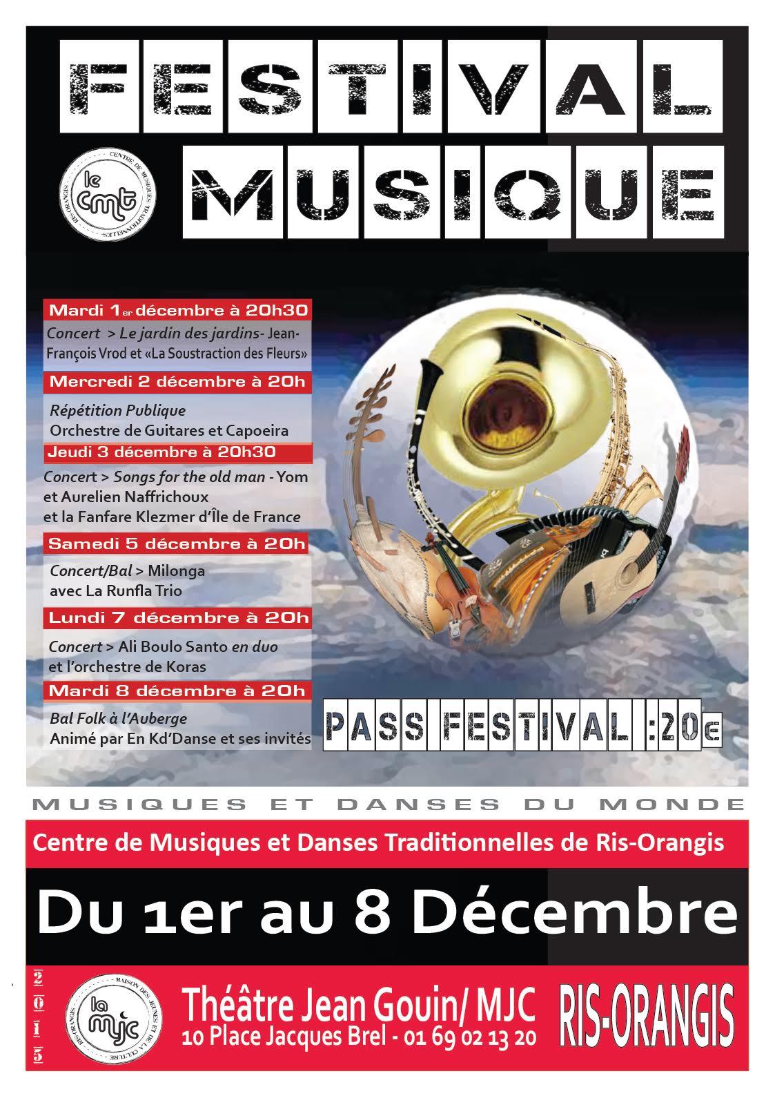 FESTIVAL MUSIQUE 1er - 8 décembre 2015 MJC Ris-Orangis