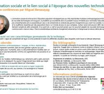 <BR>Cycle «L'animation sociale et le lien social à l'époque des nouvelles technologies» Conférence #2