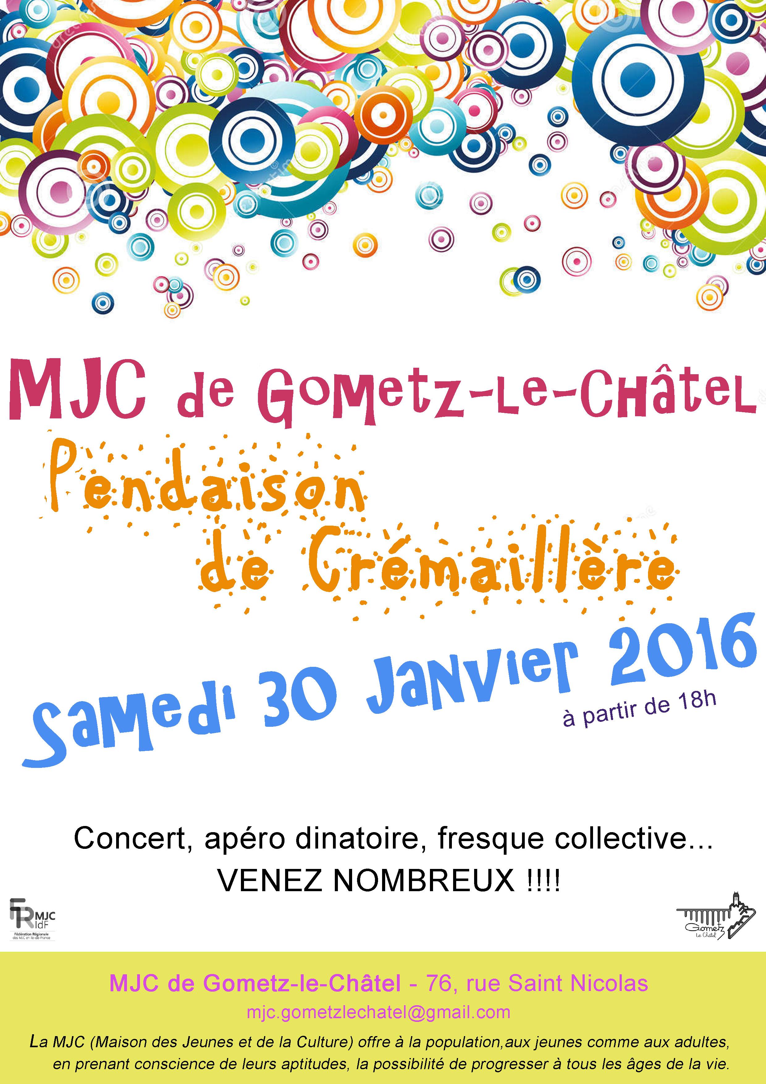 Affiche soirée MJC - Vcouleurs