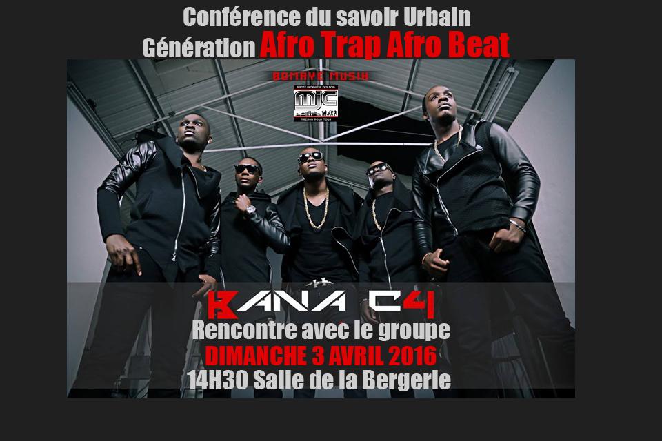 Conférence du savoir Afro TRAP Afro Beat 2 avril 2016 copie