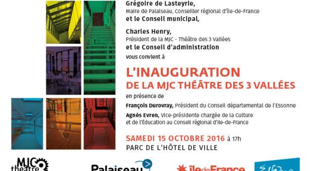 Inauguration de la MJC de Palaiseau samedi 15 octobre 2016 à 17h