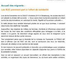 Accueil des migrants :  les MJC prennent part à l'effort de solidarité