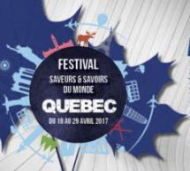 Festival Saveurs et Savoirs du monde du 18 au 29 avril – Aux couleurs du Québec