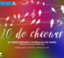Festival 10 de Chœurs 2017