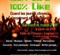 «100% live 100% Like» : quand les jeunes citoyens s'expriment et s'engagent !