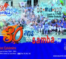 La Batucada Aquarela do Paris, au 30 ans de la Samba