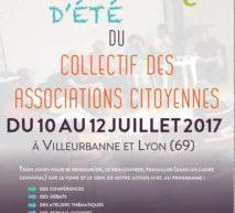 Université d'été 2017 du Collectif des Associations Citoyennes