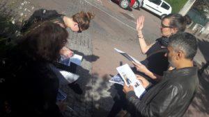 Déambulation dans les rues de Savigny-sur-Orge, durant la formation d'autodiagnostic.