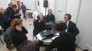 Webradio du pôle installée à l'occasion de la signature du contrat jeunesse du centre, suivi d'un plateau radio en présence des maires des 2/3/4ème arrondissements et de Pauline Veron, adjointe à la Maire de Paris.